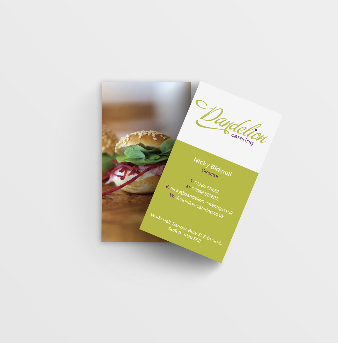 Dandelion Catering Business Card