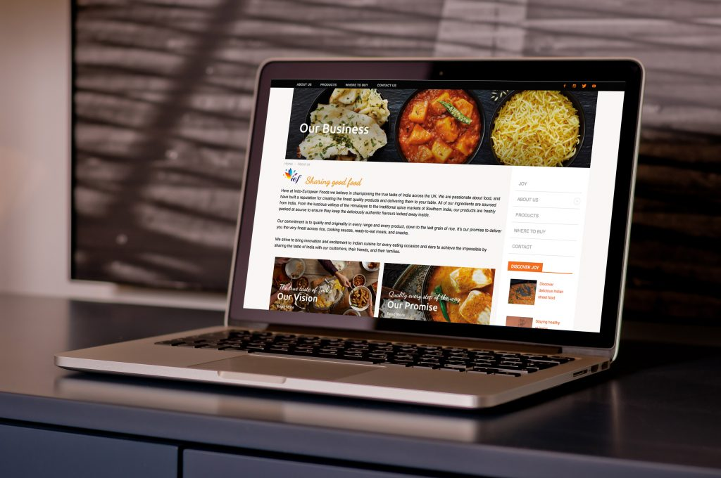 Indo European Foods Website